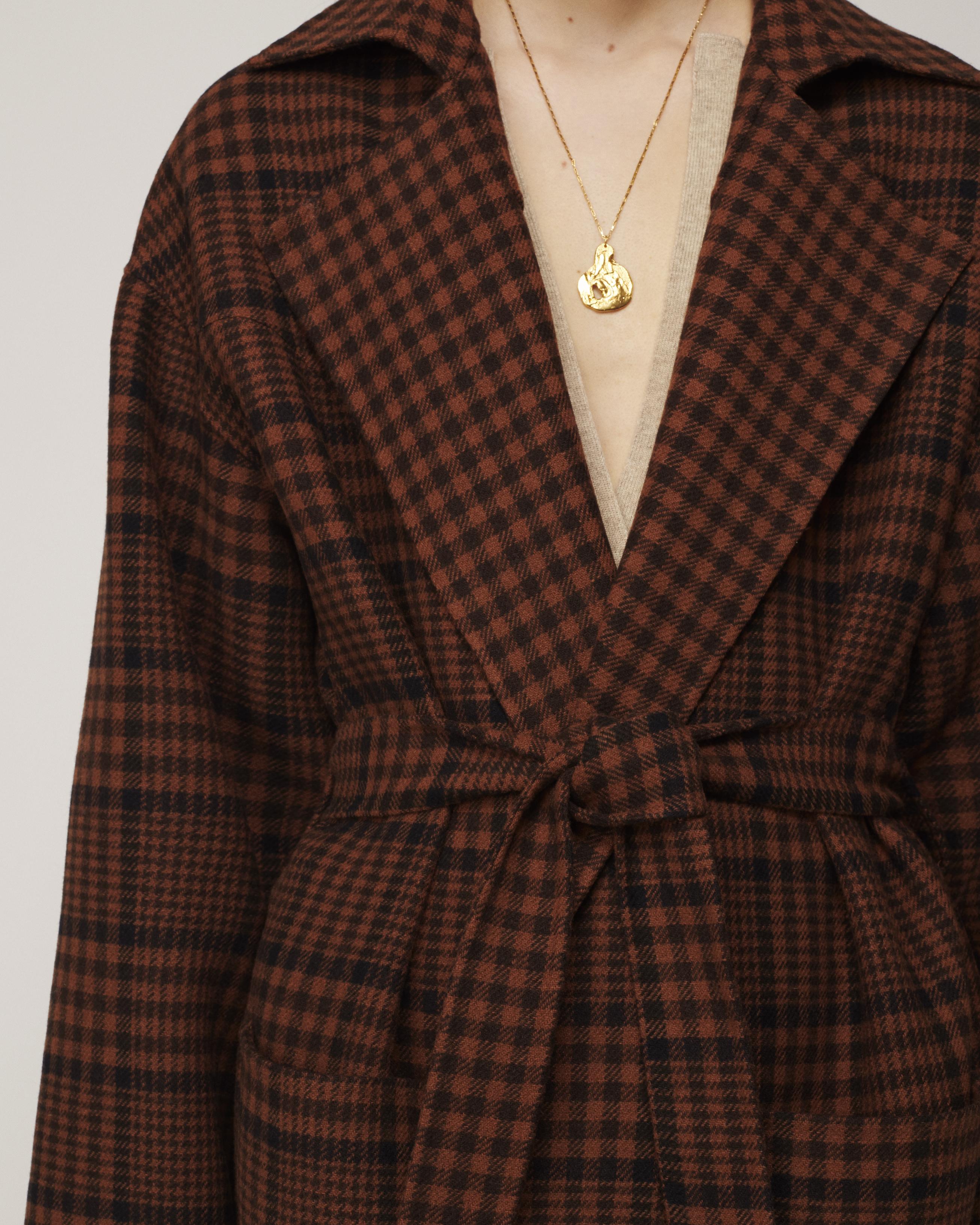 Nanushka ALAMO - Oversized robe coat - Check - M